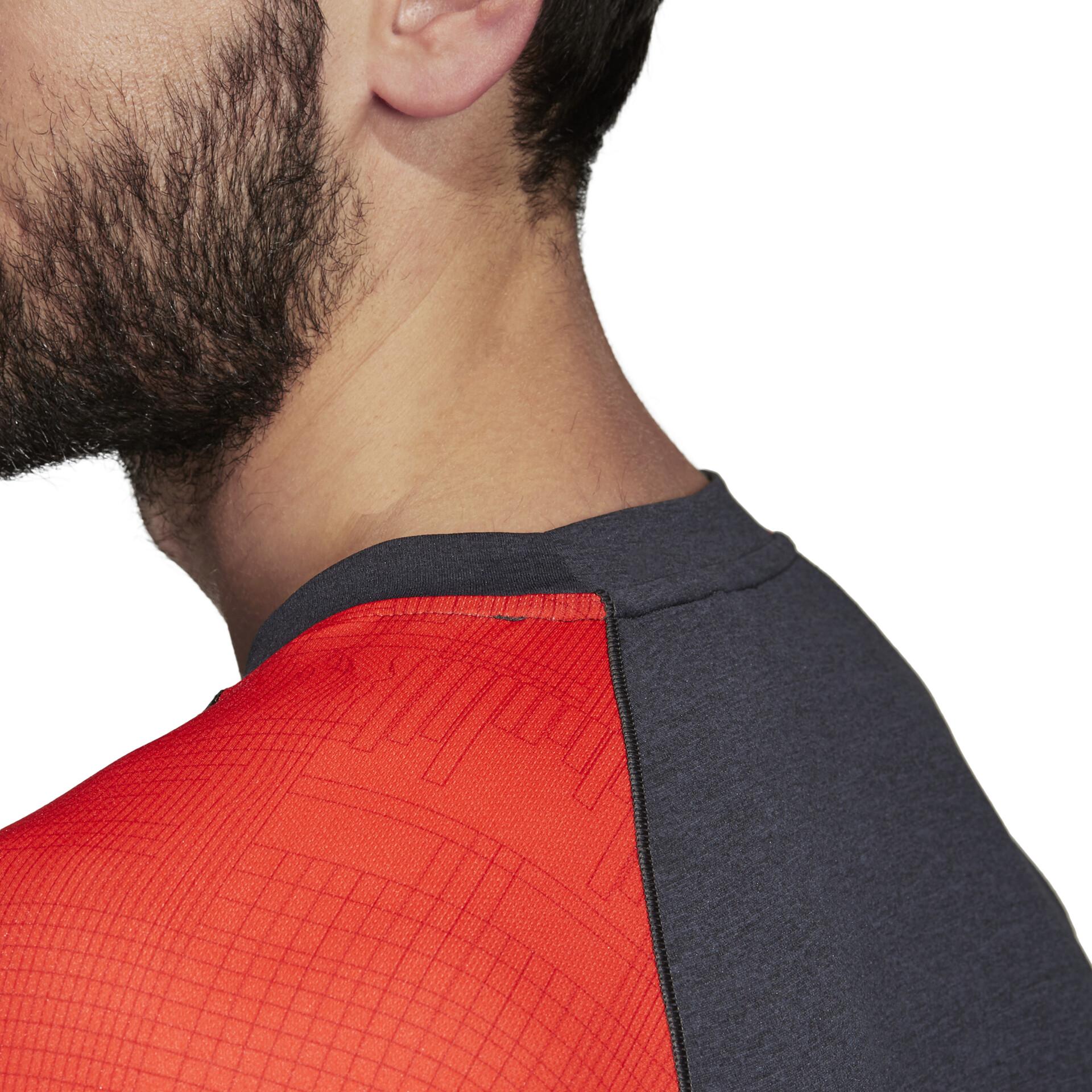 adidas TERREX Trail Cross Maglia a maniche lunghe Uomo, hi-res red/carbon su Addnature UMzXO